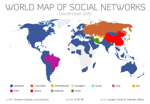 World of Social Networks december 2010 via Vincos.it