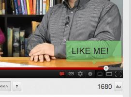 Youtube annotation: Like me!