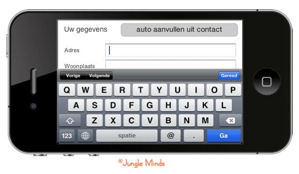 Formulier vullen met contactgegevens uit je telefoon