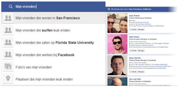 Facebook Graph Search vrienden