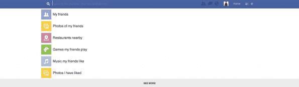 Search Bar Facebook sociogram