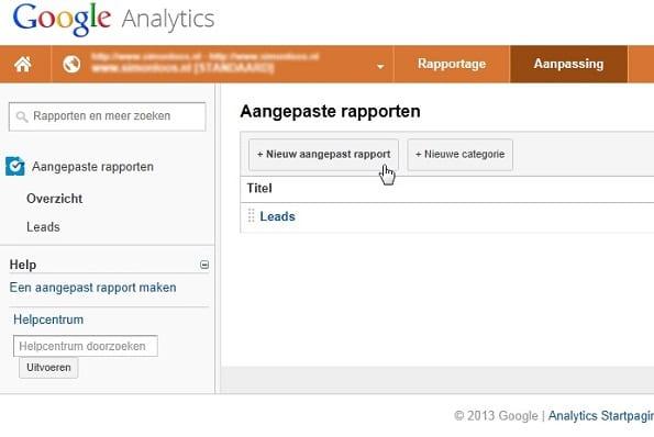leads Google Analytics
