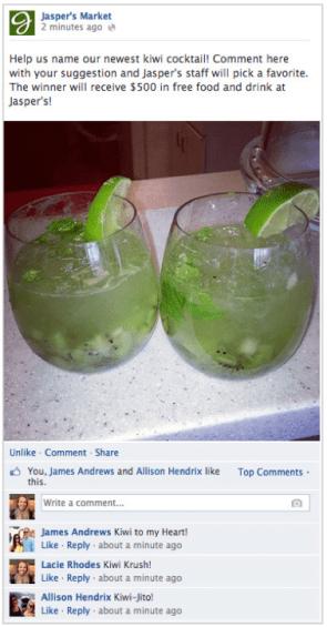 Voorbeeld Facebook Promotie