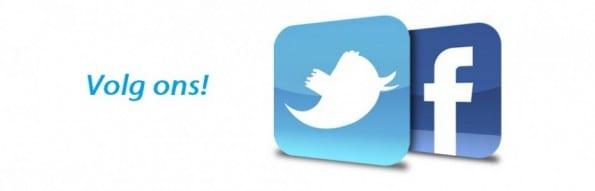 Volg ons op Facebook en Twitter