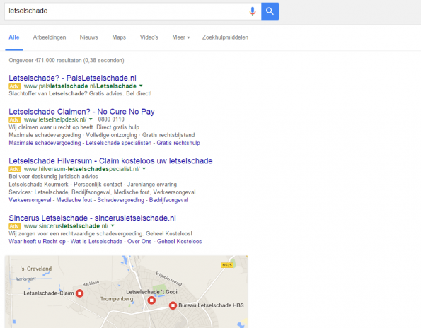 Google lokale resultaten