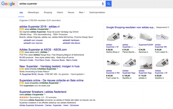 Google_zoekresultaten_SERP_Adidas