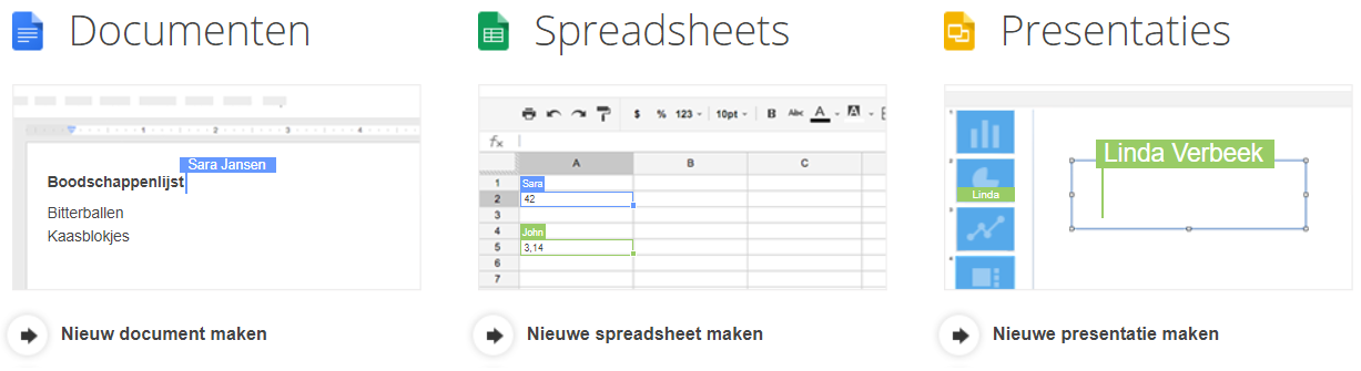 Screenshot of Google Drive: one of the tools for online collaboration.