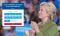 Een voorbeeld van visual cueing op de landingspagina van Hillary Clinton.